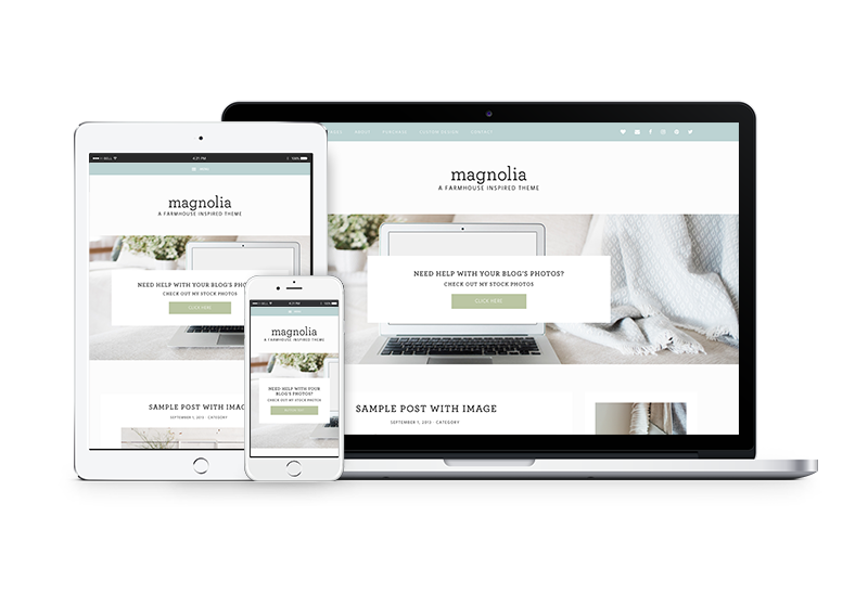 Magnolia - A Farmhouse Inspired WordPress Theme by Coded Creative